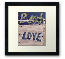 Beach LOVE yb Framed Print
