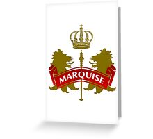 The Marquise Coat-of-Arms Greeting Card