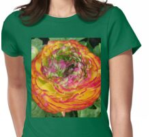 Orange and Red .. Shades of a flower Womens Fitted T-Shirt