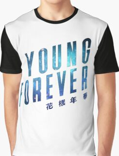 Young Forever - Blue Graphic T-Shirt