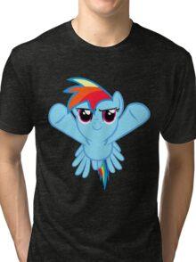 Rainbow Dash Flying Tri-blend T-Shirt