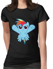 Rainbow Dash Flying Womens Fitted T-Shirt