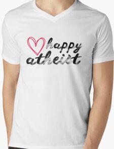Happy Atheist  Mens V-Neck T-Shirt
