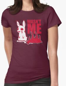 Bunny Wasnt Me Womens Fitted T-Shirt