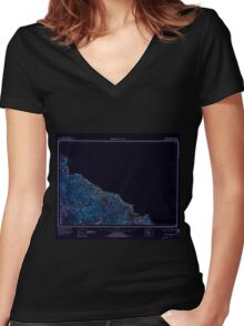 USGS TOPO Map Alaska AK Bradfield Canal 360699 1951 250000 Inverted Women's Fitted V-Neck T-Shirt