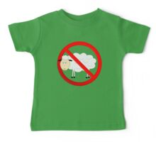 Sheep Not Allowed Sign Baby Tee