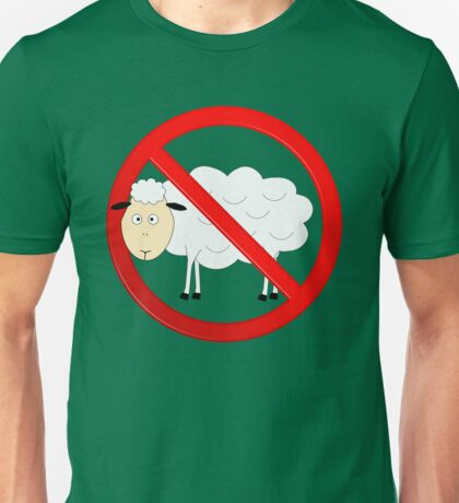 Sheep Not Allowed Sign Unisex T-Shirt