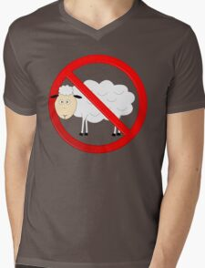 Sheep Not Allowed Sign Mens V-Neck T-Shirt