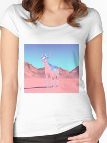 Polygon Deer Women's Fitted Scoop T-Shirt