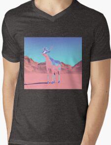 Polygon Deer Mens V-Neck T-Shirt