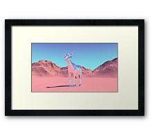 Polygon Deer Framed Print
