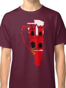 Flag Map of Gibraltar  Classic T-Shirt