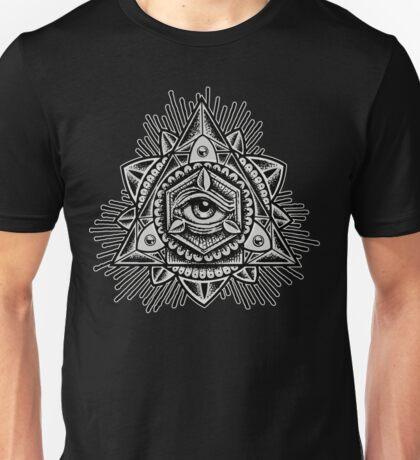 Sacred Trinity Eye BW Unisex T-Shirt