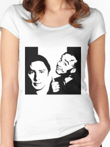 vanilla and chocolate bears - scrubs Women's Fitted Scoop T-Shirt