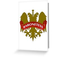 The Baronetess Coat-of-Arms Greeting Card