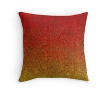Flame Glitter Gradient Throw Pillow