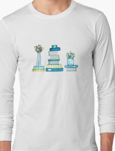 Tulips & Books Long Sleeve T-Shirt