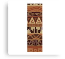 Letter I Leather Look Pattern Tribal Ethnic Monogram Initial Canvas Print
