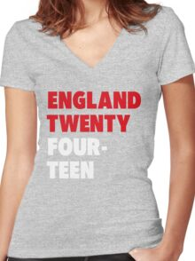 Team England for the World Cup 2014 Women's Fitted V-Neck T-Shirt