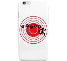 Chuck Ninja man target board 2 iPhone Case/Skin