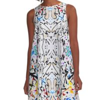 Abstract garden in reflect A-Line Dress