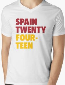 Team Spain for the World Cup 2014 Mens V-Neck T-Shirt