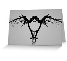 Tree Bird I BW Greeting Card