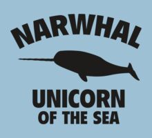 Narwhal Unicorn Of The Sea by DesignFactoryD