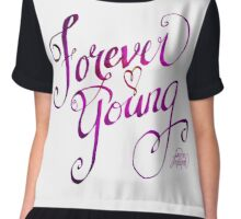 Forever Young pink by Jan Marvin Chiffon Top
