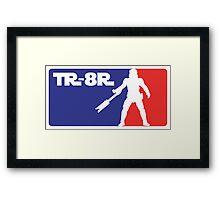 Loyal Trooper TR-8R Logo (major league colors) Framed Print