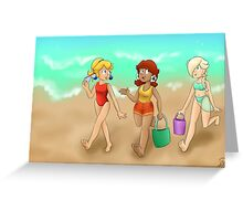 Summer Princesses (w/ bg) Greeting Card