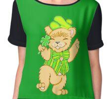 Irish Bear with Shamrock Chiffon Top