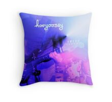 """hooyoosay """"The last time"""" Throw Pillow"""