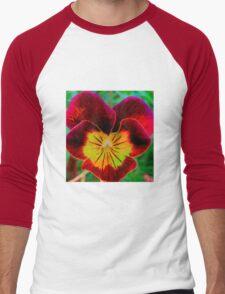 Viola Red Men's Baseball ¾ T-Shirt