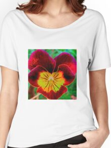 Viola Red Women's Relaxed Fit T-Shirt