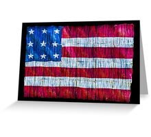 Rustic American Flag Greeting Card