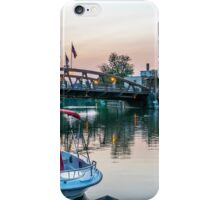 Boats Along the Erie Canal iPhone Case/Skin