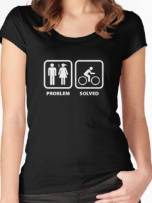Problem Solved Cycling Women's Fitted Scoop T-Shirt