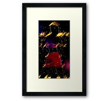 The effects of UV (black light) on reflective clothing - Orange  Framed Print