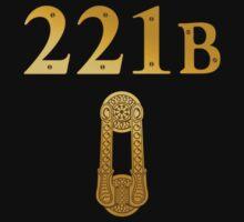 "Sherlock Holmes ""221B"" Kids Tee"