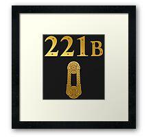"Sherlock Holmes ""221B"" Framed Print"