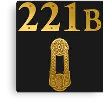 "Sherlock Holmes ""221B"" Canvas Print"