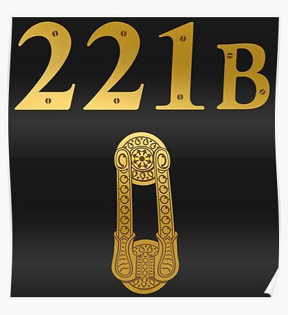 "Sherlock Holmes ""221B"" Poster"