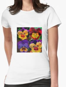 Viola Garden Womens Fitted T-Shirt