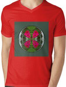 Flower Globe Mens V-Neck T-Shirt