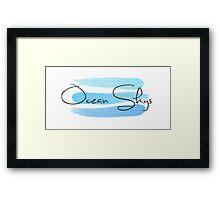 Ocean Skies Framed Print