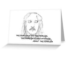Jack Sparrow with Quote Greeting Card