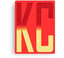 KC monogram Red/Gold Canvas Print
