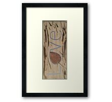 Love leaf Framed Print