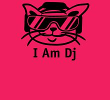 Cool Dj Cat Womens Fitted T-Shirt